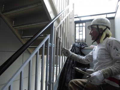 階段 (マンション 外壁塗装工事)