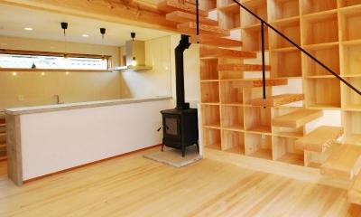 リビング|Wood stucco house