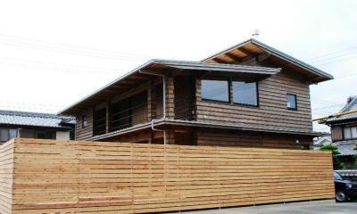 外観|Wood stucco house