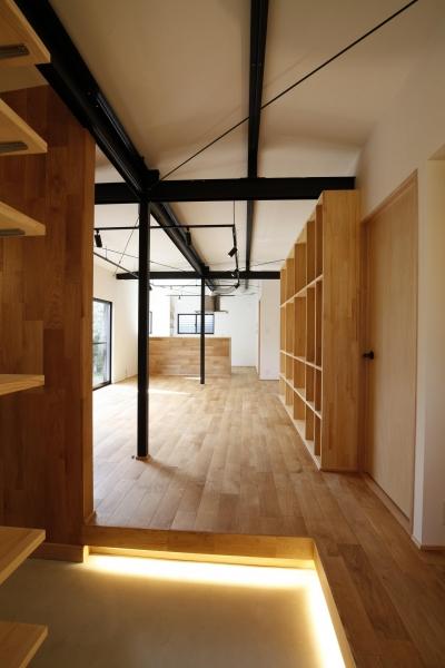 宝塚市 平屋戸建てのリノベーション (玄関)