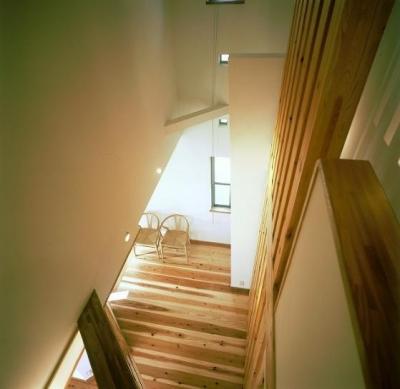 伊勢崎の家 (吹き抜けからの見下げ)