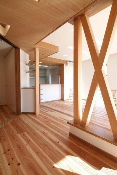 伊勢崎の家 (木を感じるリビング)