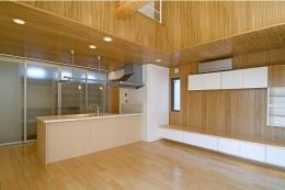 鴻巣の家 (シンプルなダイニングキッチン)