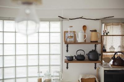 ガラスブロックのキッチン (キッチン雑貨)
