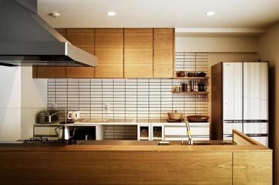 キッチン (柔らかな陽光でくつろぐ住まい)