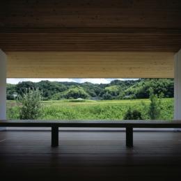 鋸南の家 (床座の空間-借景)