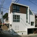 スキップの家 / 愛犬家住宅の写真 インナーガレージのある白い外観