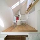 スキップの家 / 愛犬家住宅の写真 片流れ屋根のダイニングキッチン