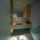 スキップの家 / 愛犬家住宅の写真 床が個性的なタイル張りのトイレ