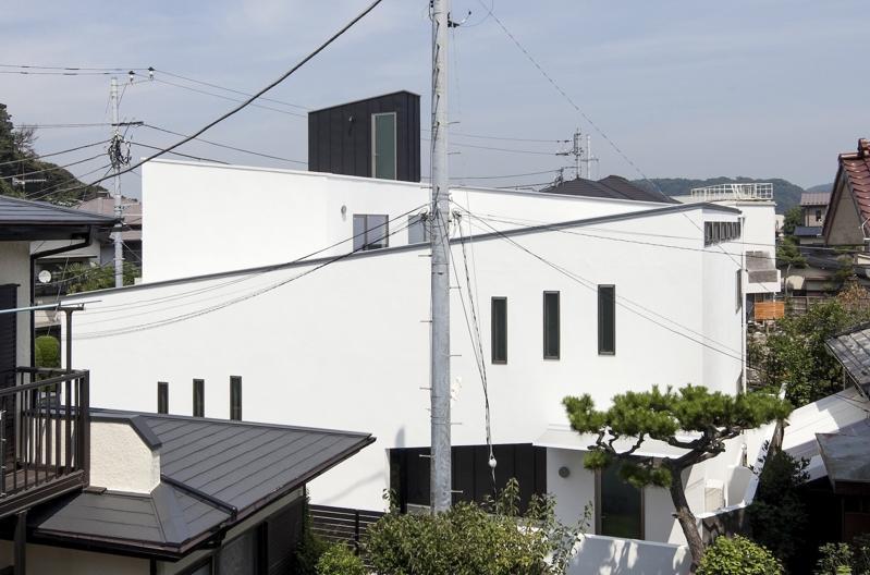 スロープの家 / 愛犬家住宅の部屋 スロープの構成を表現した外観