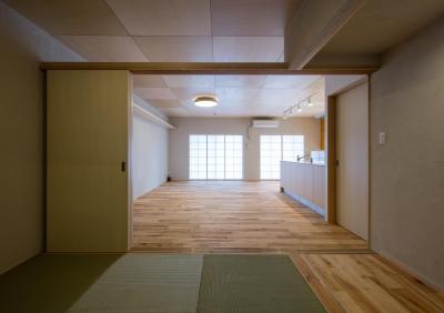 板の間・畳の間 (宮崎町の家(リノベーション))