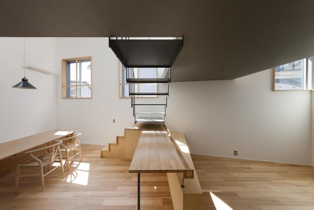 お花茶屋の住宅 (吹き抜けと窓とシルバーの天井)