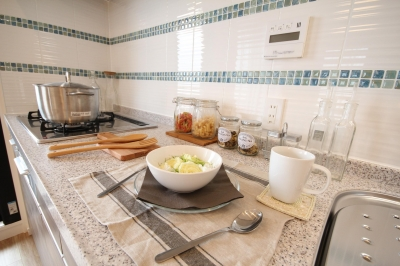 キッチン (開放感溢れる寛ぎの住空間)