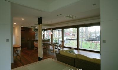 006軽井沢Kさんの家 (リビング / ダイニング)