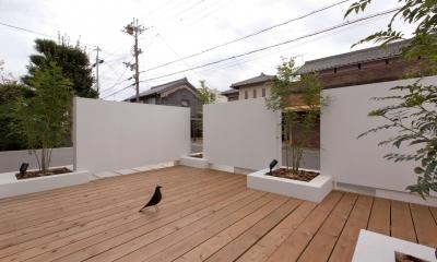 ウッドデッキ|9平米の増築と外構でつながる広がりのある家(城東の家リノベーション)