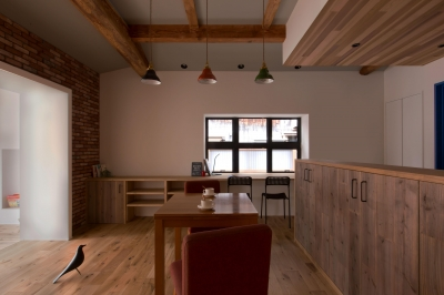 ダイニング (9平米の増築と外構でつながる広がりのある家(城東の家リノベーション))
