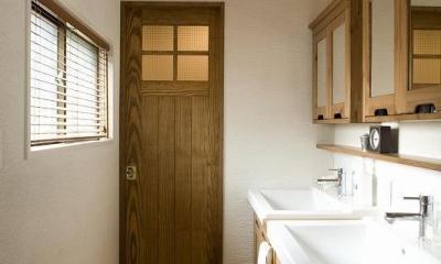 洗面|都会の中でナチュラルに暮らす為の家
