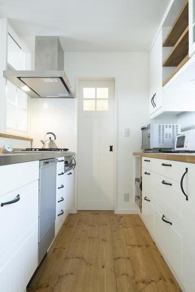 キッチン (都会の中でナチュラルに暮らす為の家)
