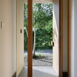 031軽井沢Tさんの家 (玄関)