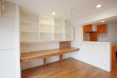 子供部屋を考える (キッチンのそばで勉強するスペース)