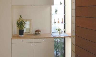 木造のスケルトンリフォーム|HT-house (玄関)
