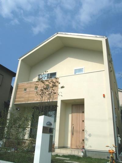 上下につながるコミュニケーション|大倉山の家 (外観)