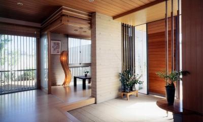 RC造の三世代住宅|六条の家 (玄関脇の客間)