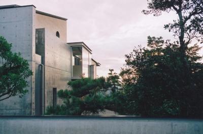 北側外観 (RC造の三世代住宅|六条の家)