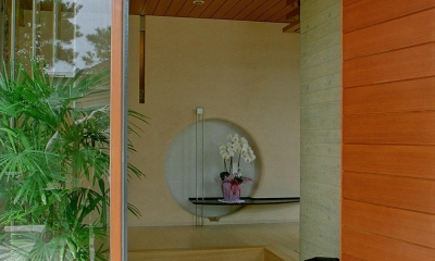 RC造の三世代住宅|六条の家 (玄関)