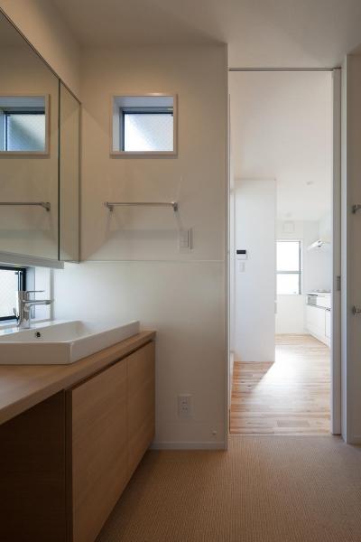 洗面室 (焼杉を使った店舗付き住宅 世田谷のShop&House)