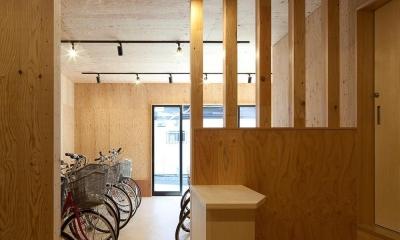 焼杉を使った店舗付き住宅|世田谷のShop&House