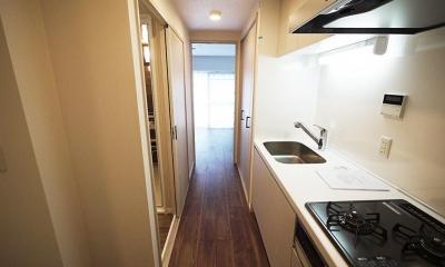 古い和室をスタイリッシュなワンルームに (キッチン)