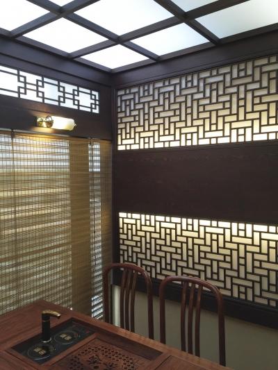 中国の茶室 (格子と光2)