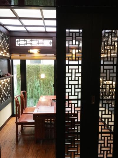 中国の茶室 (オーバーレイするエレメント(格子))
