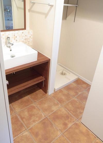 家事室 (ワンフロアワンルームの木造住宅|小平の家)