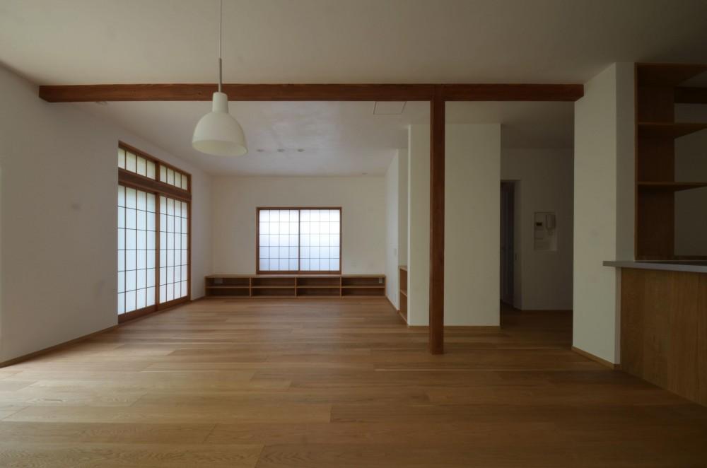 荻窪K邸-二世帯住宅を一世帯で使用、こだわりの部分リノベーション- (リビング全景)