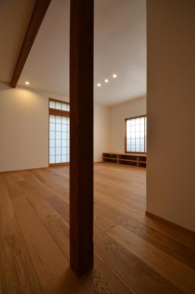 荻窪K邸-二世帯住宅を一世帯で使用、こだわりの部分リノベーション- (既存の柱)