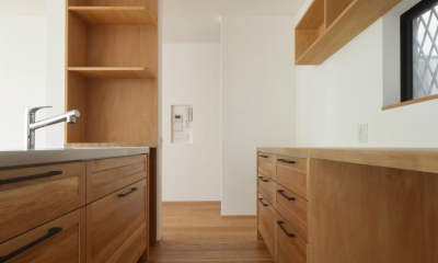 荻窪K邸-二世帯住宅を一世帯で使用、こだわりの部分リノベーション- (キッチン)