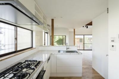 西が岡I邸-魅力ある空間に一新させる吹抜けと螺旋階段- (キッチン)