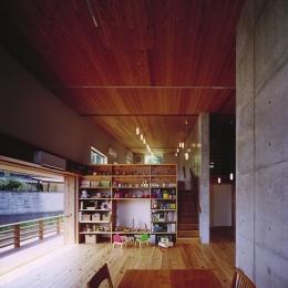 二路 ninji-スキップフロアでワンルームの内部