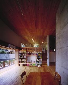 二路 ninji (スキップフロアでワンルームの内部)