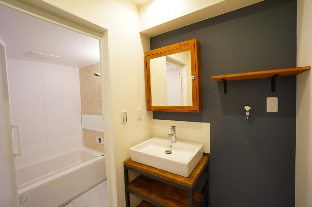 NY  Brooklyn style ~カフェの様な空間~ (バスルーム/洗面所)