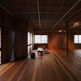 装迎遊居 sougeiyukyo (3室を1室に改装したリビングダイニング)