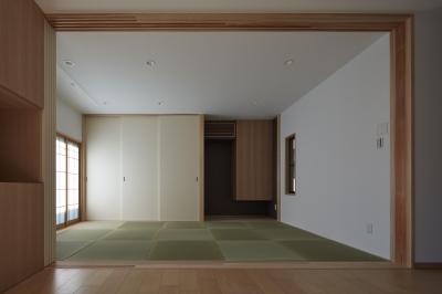 琉球畳の和室(親世帯) (小岩の二世帯住宅)