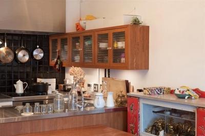 キッチン (A邸-ワークスペースに夫婦それぞれの空間)