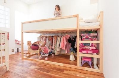 子供部屋 (A邸-ワークスペースに夫婦それぞれの空間)