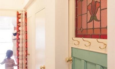 A邸-ワークスペースに夫婦それぞれの空間 (廊下)