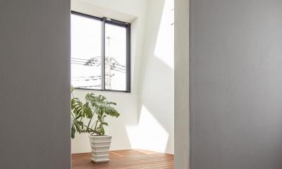 光を取り込む温室|駅前通りの家