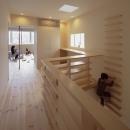 5階住居/フリースペース 4階とつなぐ吹き抜けと梯子