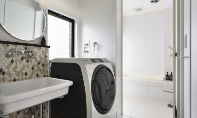 住うと仕事を楽しむ、レトロな雰囲気 (洗面・風呂)